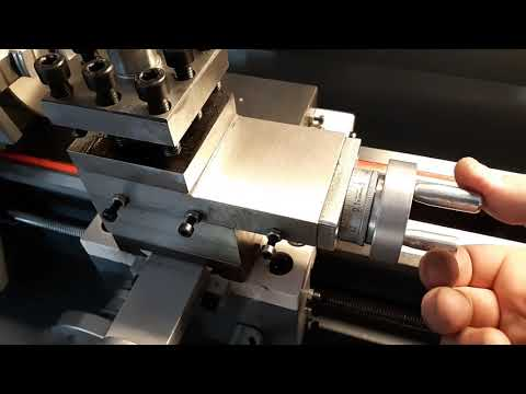TS-210 mini lathe with 38mm spindle PT-2 - 동영상