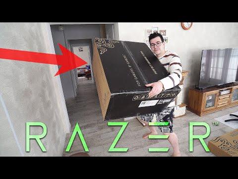 Огромная коробка от Razer! Внутри игровое кресло, собираем, первые эмоции (Razer Iskur)