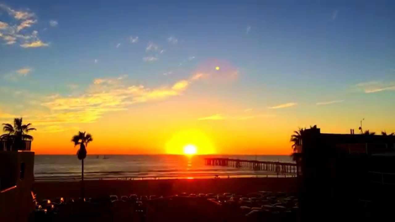 Timelapse Video Of Venice Beach Sunset.