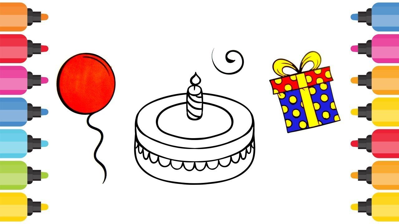 Pasta Balon Ve Hediye Paketi Boyama Oyunu Youtube