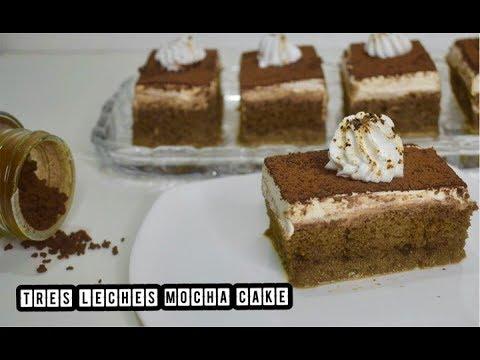 Tres Leches Mocha Cake   3 Milks Cake   Mexican Tres Leches Cake