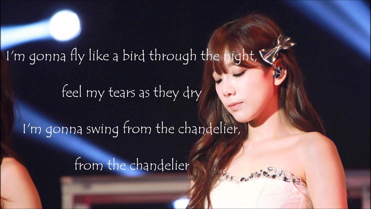 Taeyeon Chandelier Lyrics English - YouTube