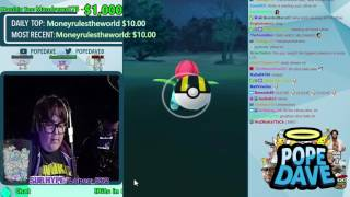 Andy Milonakis Tries to Catch an Ivysaur on Stream!