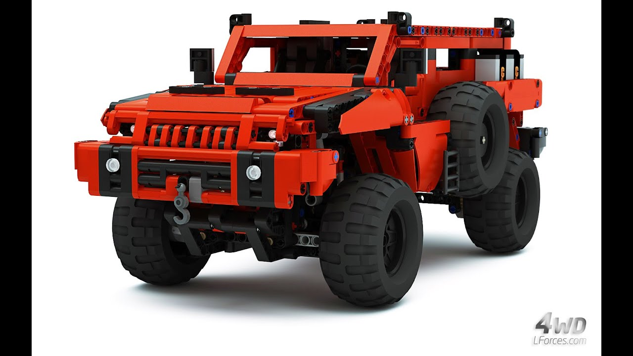 Jeep Truck >> Lego Technic Marauder - Most Advanced Off-Roader - as seen on BBC Top Gear - YouTube