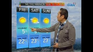 UB: Weather update as of 6:08 a.m. (February 15, 2019)