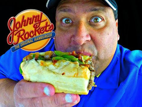 JOHNNY ROCKETS® Philly Cheese Steak REVIEW!