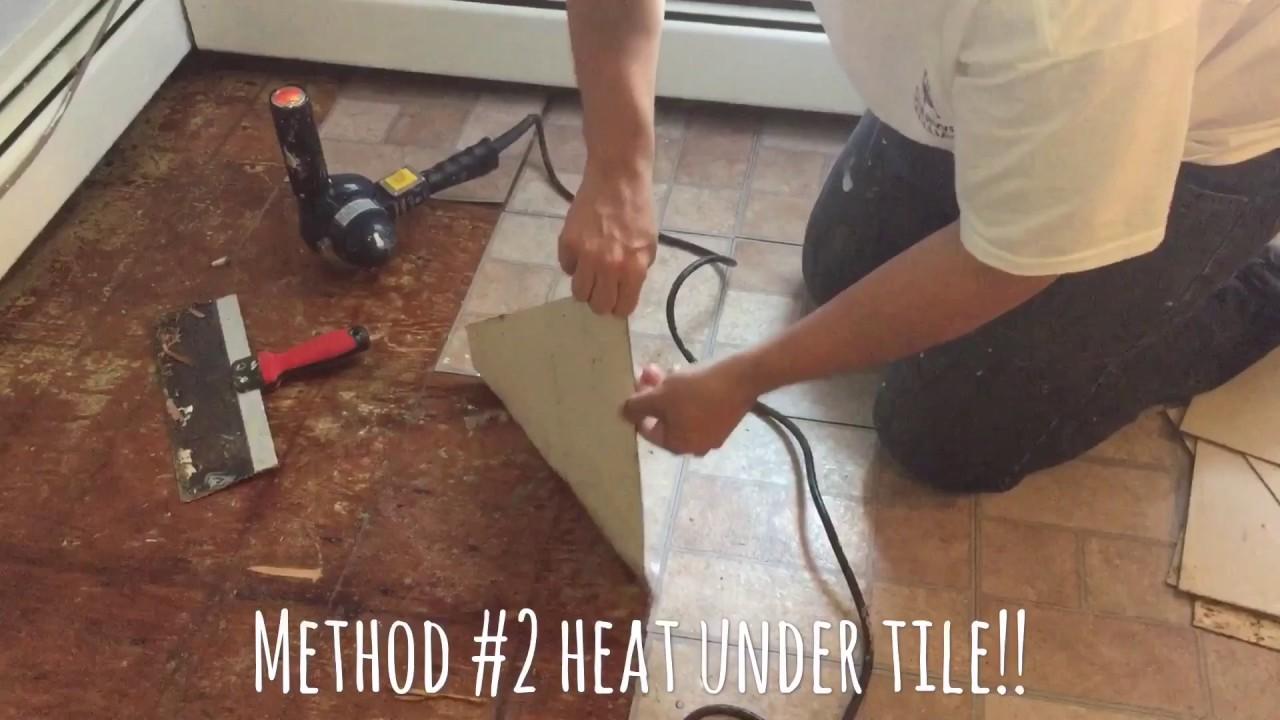 DIY how to remove linoleum floorpart 1  YouTube