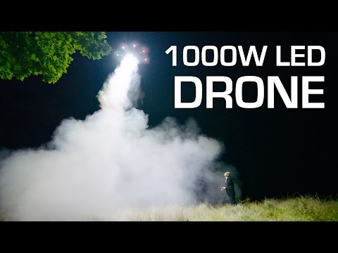1000W LED on a DRONE - RCTESTFLIGHT
