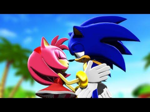 Sonamy Kiss Moment (Sonic Animation)
