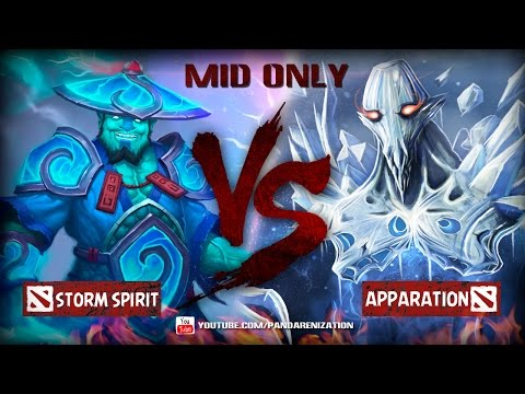 видео: storm spirit vs ancient apparition [Битва героев мидонли dota2]
