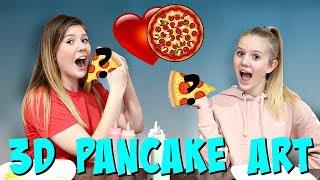 3D Pancake Art Challenge   Sis vs Sis   Taylor and Vanessa