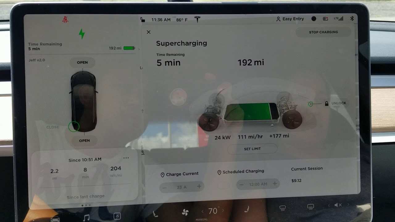 How much to charge a Tesla using Supercharger. ep. 1 - YouTube