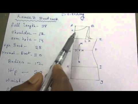 Kameez Drafting/Cutting and Stitching with formula part 1 of