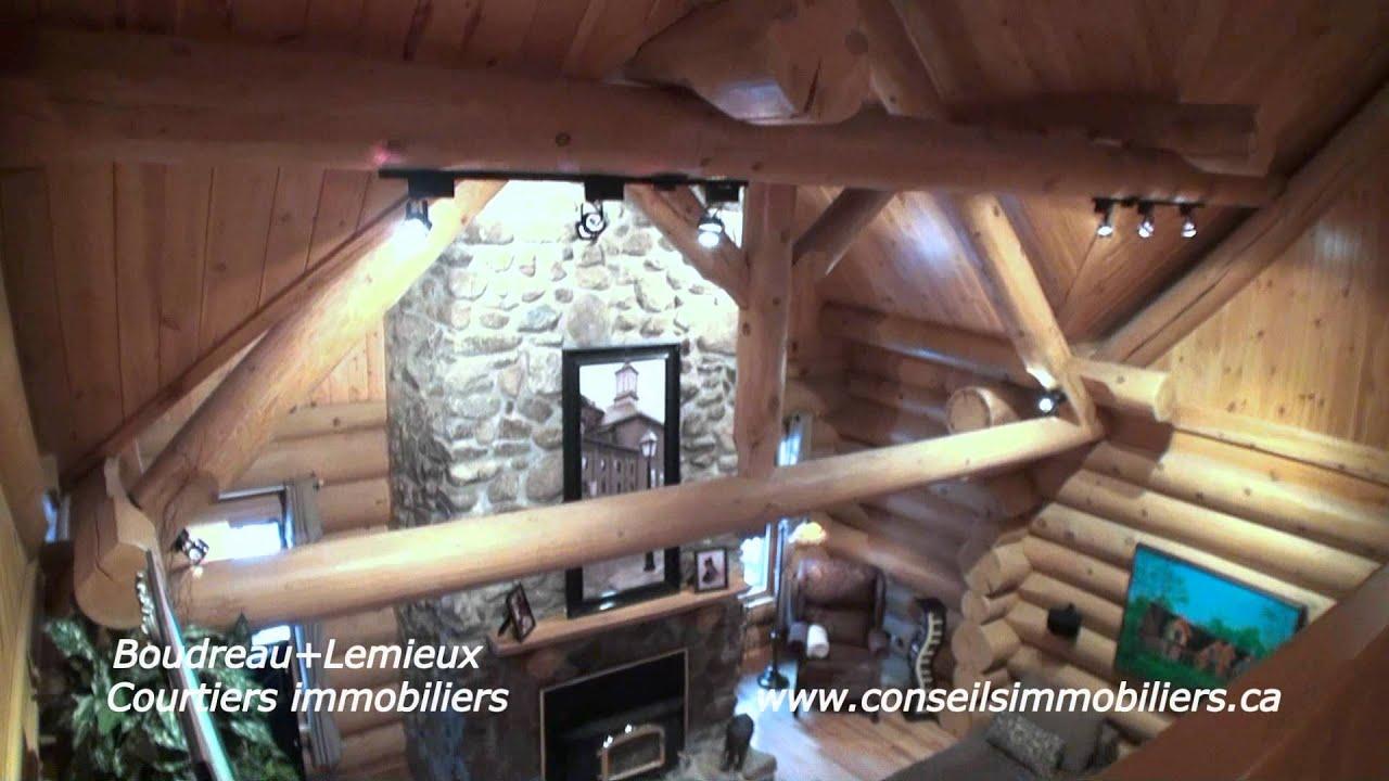 Maison haut de gamme en bois rond vendre youtube for Maison en bois ronde
