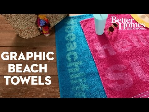 Graphic Beach Towels
