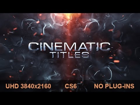 Cinematic Titles | After Effects template