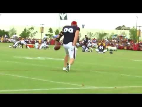 J.J. Watt and Vince Wilfork do trick catches - 2015 NFL Training Camp highlights