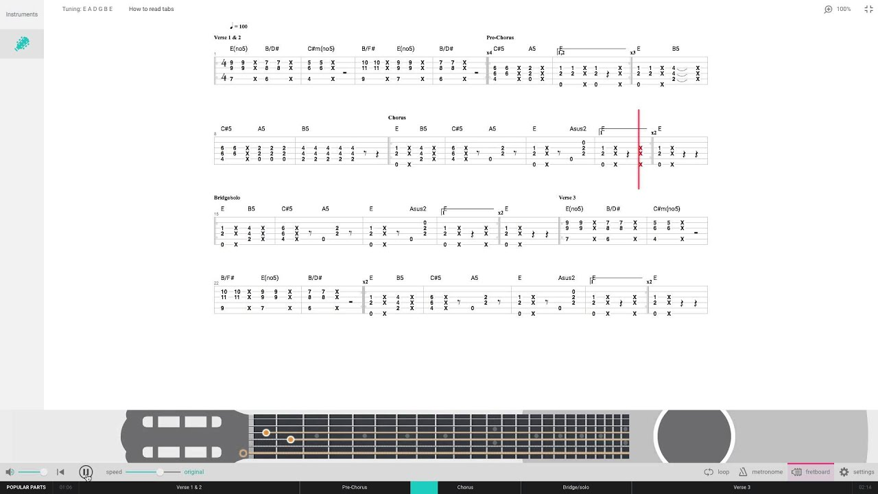 Love Yourself by Justin Bieber Free Guitar Tab Pro - YouTube