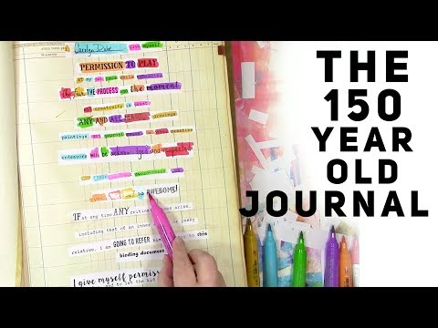 A 150 year old ledger becomes an art journal