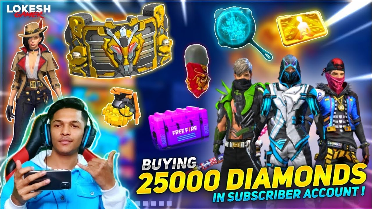 I Bought 25000++++ Diamonds In Subscribe Account & Got All Rare Items At Garena Free Fire 2020