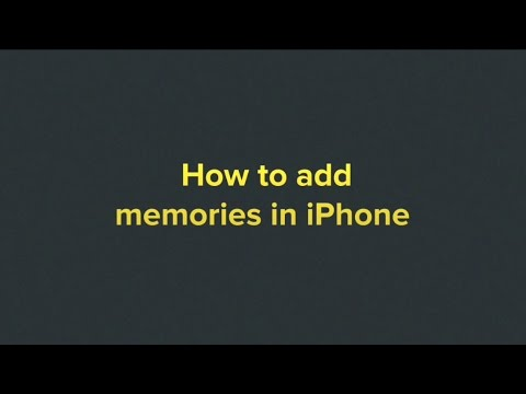 How to make a memory video in iphone