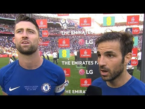Chelsea 1-0 Manchester United - Gary Cahill & Cesc Fabregas Post Match Interview - FA Cup Final