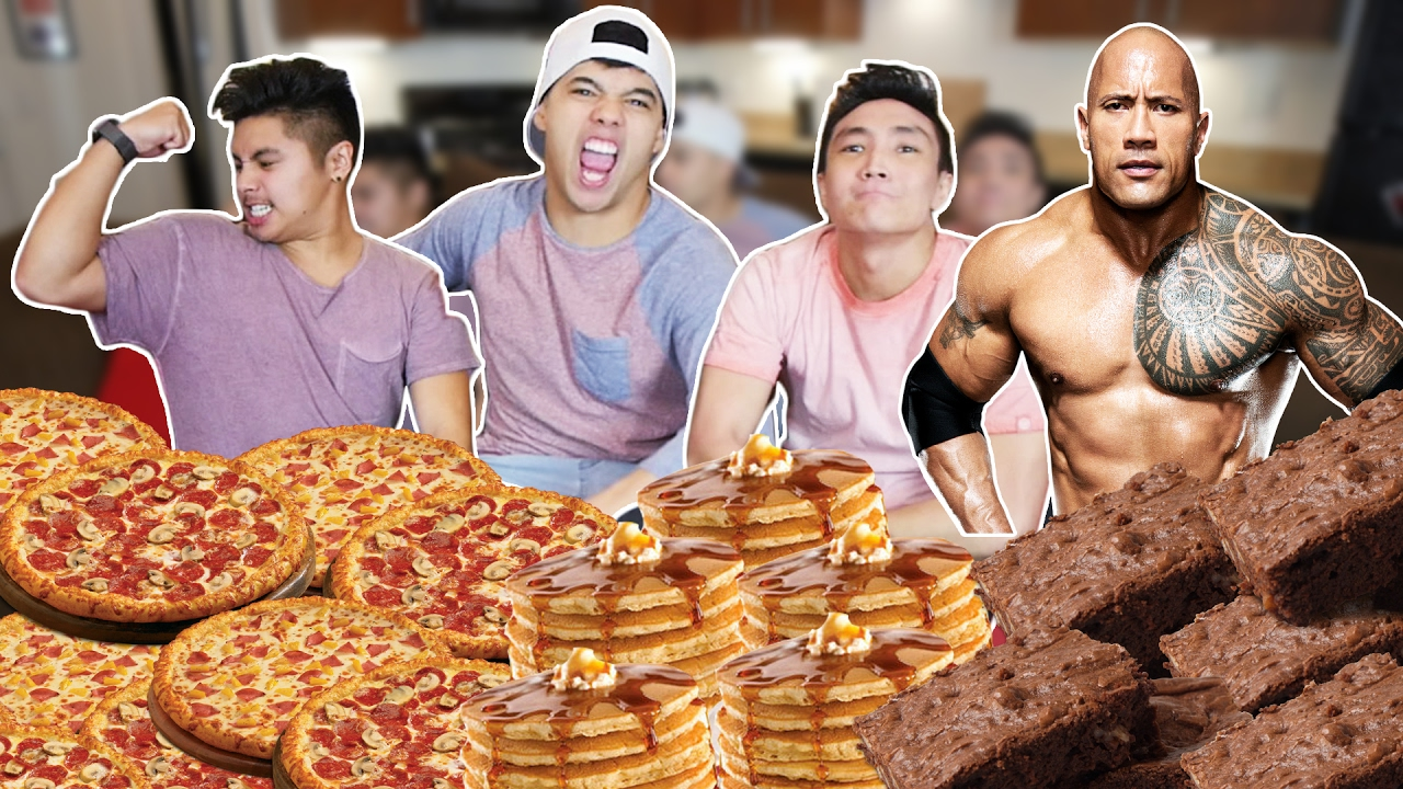 THE ROCK'S 14,000 CALORIE CHEAT MEAL CHALLENGE! - YouTube