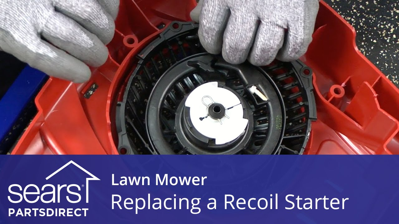 Replacing the Recoil Starter on a Lawn Mower  YouTube