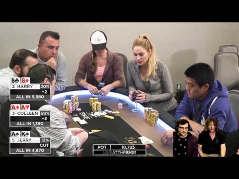 Harry, Jerry & Colleen Ridiculous $10,000 Cooler ♠ Hand of the Night ♠ Live at the Bike!