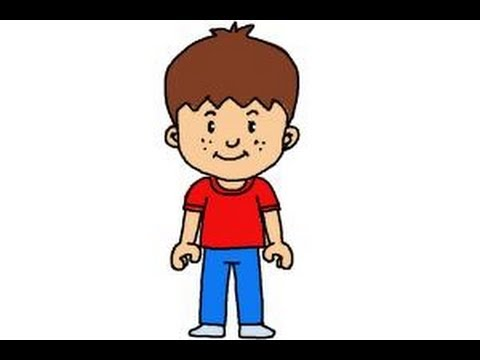 How to draw a little boy - YouTube