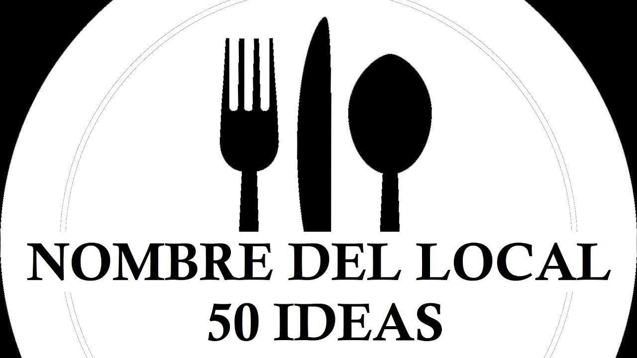 50 Nombres Para Bares Cafeterías Y Restaurantes 50 Ideas Para Inspirarte Youtube