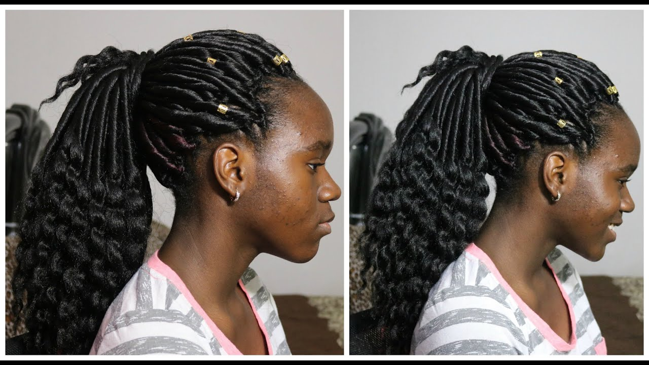 Crochet Goddess Braids : First Attempt Crochet Braids! (Superline Goddess Locs) - YouTube