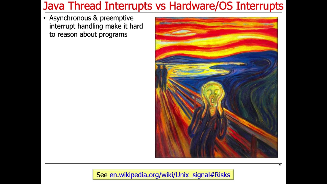 Managing the Java Thread Lifecycle: Java Thread Interrupts vs  Hardware/OS  Interrupts