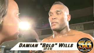"""Heavyweight boxer Damian """"Bolo"""" Wills knocks out out  Billy Willis"""