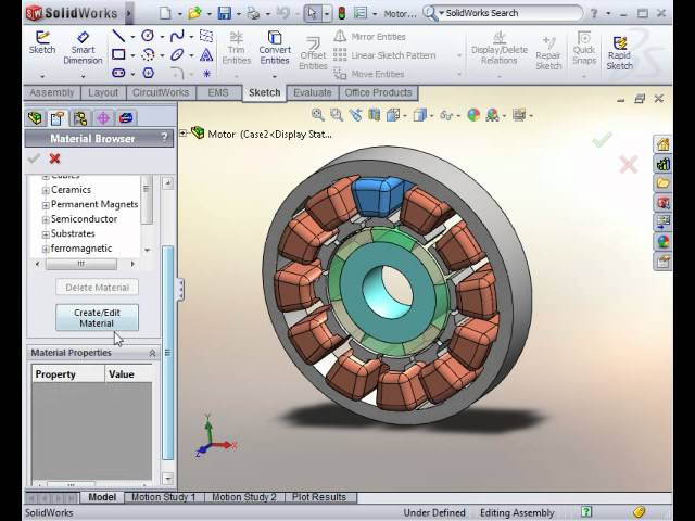 Motor Software Ems The Only Electromagnetic Simulator In Solidworks Youtube