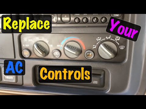 1995 96 97 98 99 GM Truck Fan Speed Switch & AC Heater Control Assy Replacement (Chevrolet & GMC)