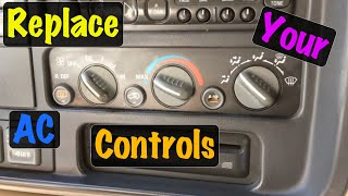 1995 96 97 98 99 Gm Truck Fan Speed Switch & Ac Heater Control Assy Replacement  Chevrolet & Gmc