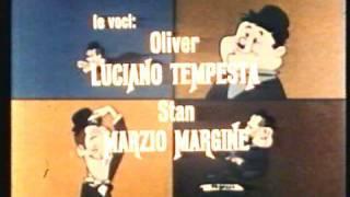 A LAUREL & HARDY CARTOON - italienische Opening-und Ending - Sigle cartoni di Stanlio e Ollio