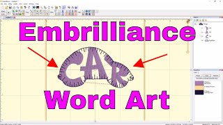 EMBRILLIANCE Embroidery Software: Create Word Art into Shapes on a Mac