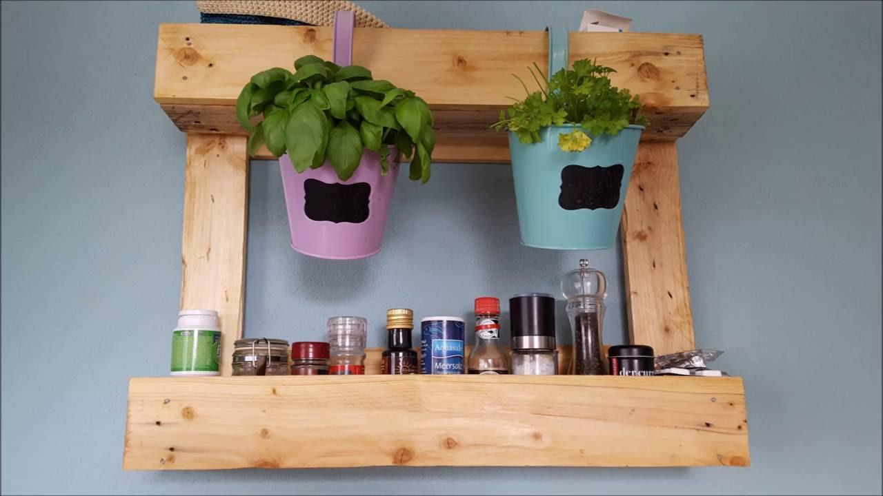 Küchenregal aus Palettenholz - schnell und einfach gefertigt