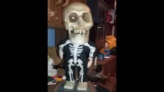 animated dancing big heads skeleton