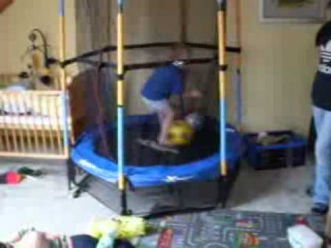 test: hudora kinder trampolin joey sicherheitstrampolin jump