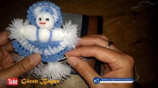 Örgü Bebek Buzdolabı Süsü
