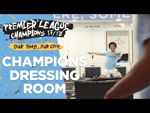 DRESSING ROOM EXCLUSIVE! | Man City Premier League Champions 2017/18