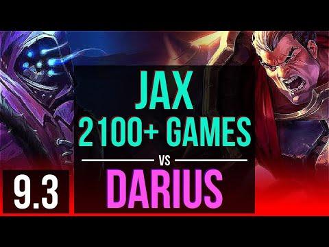 JAX vs DARIUS (TOP) | 2100+ games, 4 early solo kills, 9 solo kills | Korea Master | v9.3