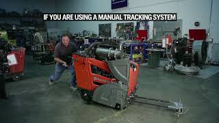 How to adjust the manual tracker on your Husqvarna FS 5000 and FS 7000 D/DL