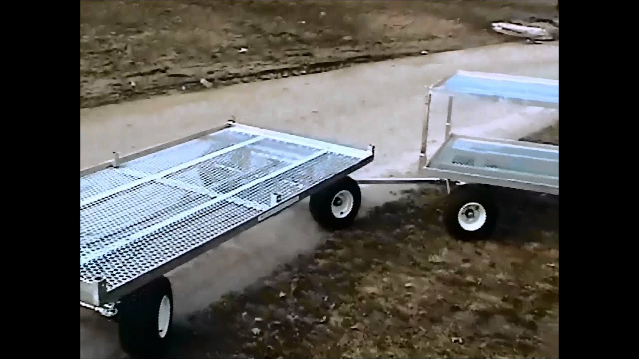 Wellmaster's 5' x 12' 4-Wheel-Steering Nursery Wagon - YouTube
