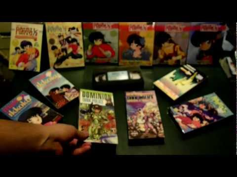 Unboxing vintage VHS of personal anime collection - Ian New Yasha