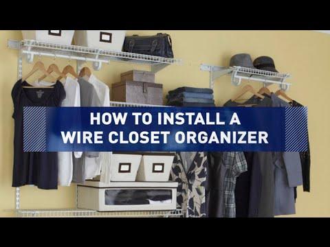 How to Install a Wire Closet Organizer