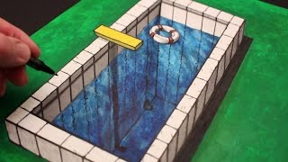 How to Draw a 3d Illusion: Anamorphic Pool